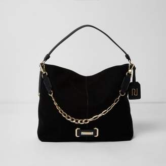 River Island Black chain front underarm slouch bag