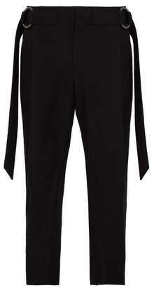 Wooyoungmi Buckle Wool Trousers - Mens - Navy