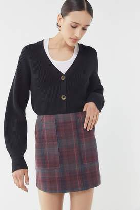 Urban Outfitters Plaid Carpenter Mini Skirt