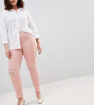Zizzi Slim Jean with Raw Hem Detail