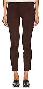 The Row Women's Cosso Suede Skinny Crop Pants - Mahogany