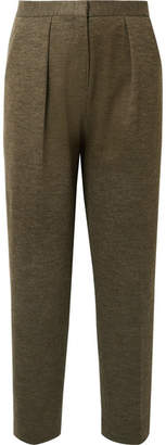 By Malene Birger Pillio Cropped Woven Tapered Pants - Army green