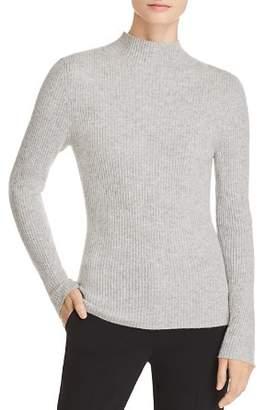 Badgley Mischka Ribbed Mock-Neck Cashmere Sweater