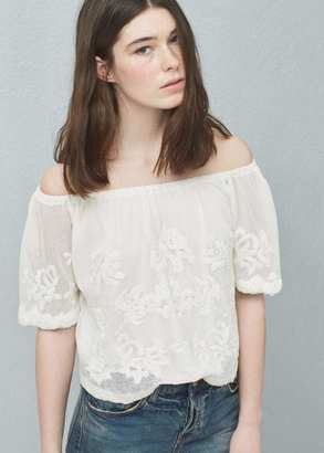 Mango Outlet MANGO OUTLET Embroidered Blouse $59.99 thestylecure.com