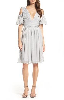 Women's French Connection Chiffon Fit & Flare Dress $188 thestylecure.com