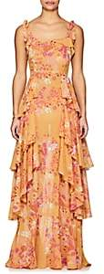 By Ti Mo byTiMo Women's Floral Cotton-Blend Voile Gown - Orange
