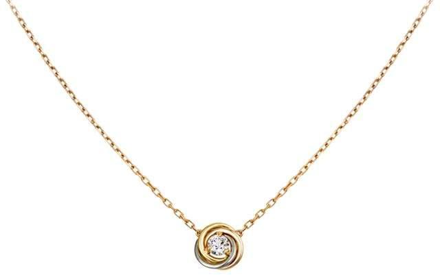 Trinity de Diamond Pendant Necklace