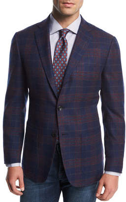Kiton Plaid Cashmere Sport Coat