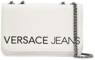 Versace logo flap shoulder bag