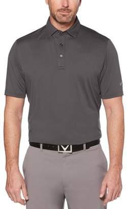 Callaway Opti-Dri Micro-Hex Solid Polo Asphalt/Grey Logo XXL