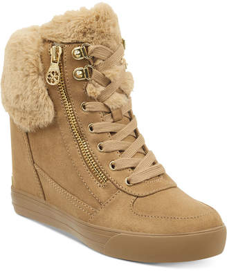 GUESS Women's Dustyn Wedge Sneakers Women's Shoes