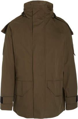 Yves Salomon Paris Wool Collar Cotton-Bachette Coat