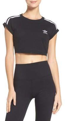 Women's Adidas 3-Stripes Crop Top $35 thestylecure.com