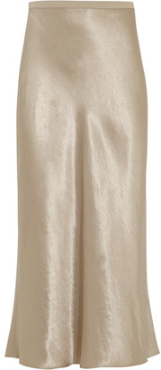 Vince - Satin Midi Skirt - Platinum $255 thestylecure.com