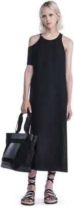 Alexander Wang Matte Poly Crepe Asymmetrical Dress