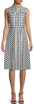 Julia Jordan Women's Sleeveless Striped Shirtdress