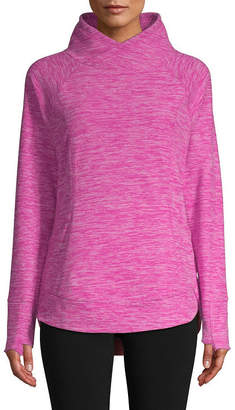 ST. JOHN'S BAY SJB ACTIVE Active Womens High Neck Long Sleeve Sweatshirt