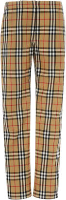 Burberry Hanover Wool-Pique Straight-Leg Trousers