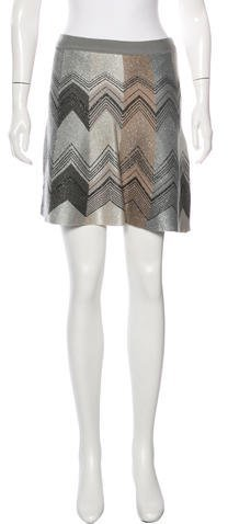 Missoni M Missoni Metallic Mini Skirt