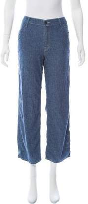 Mother Chambray Mid-Rise Pants