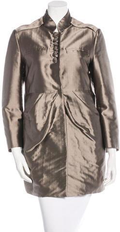 ValentinoValentino Pleated Short Coat