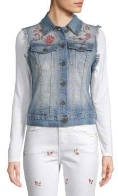 Driftwood Vega Embroidered Denim Vest