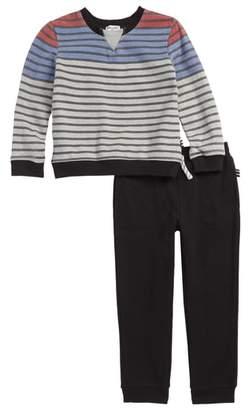 Splendid Stripe French Terry Sweatshirt & Pants Set