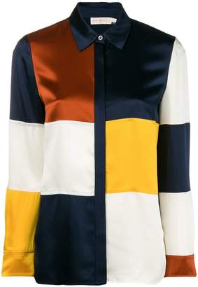 Tory Burch colour-block fitted shirt