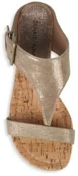 Donald J Pliner Dylan Metallic Cork Wedge Sandals