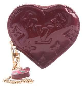 Louis Vuitton Monogram Vernis Heart Coin Purse