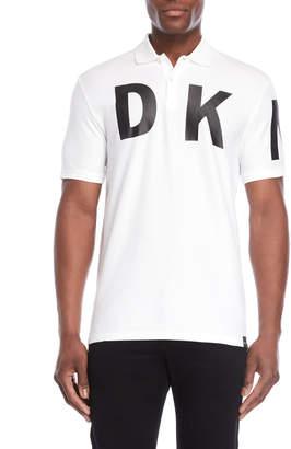 DKNY White Logo Polo