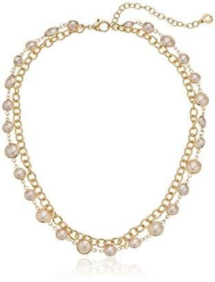 Anne Klein 2 Row Pearl Collar Necklace