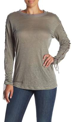 Acrobat Lace-Up Long Sleeve Linen Tee