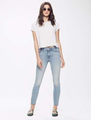 Mother High Waisted Looker Ankle Fray - Pretty Please