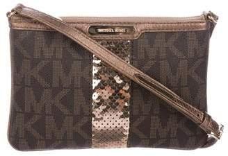 MICHAEL Michael Kors Leather-Trimmed Zip Crossbody Bag