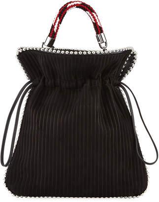 Les Petits Joueurs Trilly Big Suede Drawstring Pouch Bag