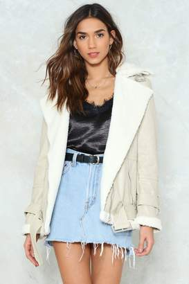 Nasty Gal Fur the Record Faux Fur Faux Leather Jacket