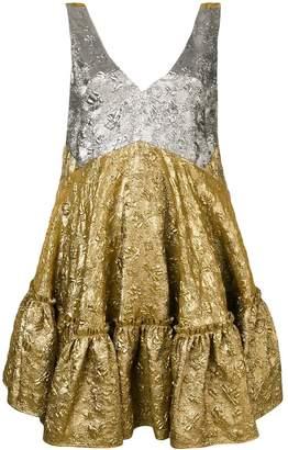 No.21 flared sleeveless dress