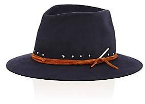 Nick Fouquet Men's The Maritime Fur Felt Fedora-Navy