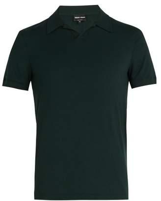 Giorgio Armani Jersey Polo Shirt - Mens - Green