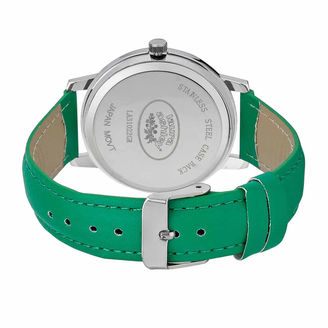 Laura Ashley Womens Floral Print Dial Green Strap Watch-LA31022GR $295 thestylecure.com