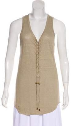 Balmain Linen Sleeveless Top