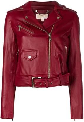 MICHAEL Michael Kors belted biker jacket