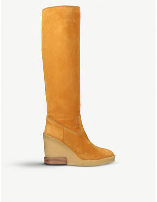Tod's Tods Chunky suede knee boots