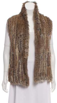 Marc by Marc Jacobs Asymmetrical Fur-Trimmed Wool Vest