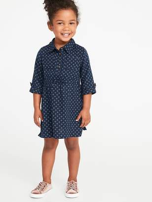 Old Navy Cinched-Waist Utility Shirt Dress for Toddler Girls