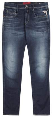 Replay Anbass Hyperflex Blue Slim-leg Jeans