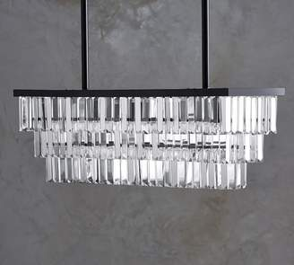 Pottery Barn Gemma Crystal Rectangle Chandelier