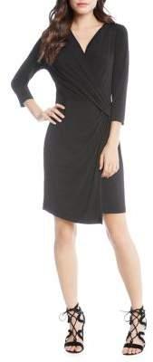 Karen Kane Quarter-Sleeve Crossover Dress
