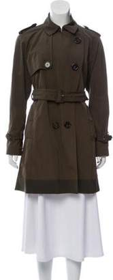 Moncler Lightweight Trench Coat Olive Lightweight Trench Coat